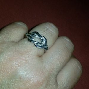 Vintage Love Knot Ring size 8